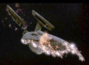 The Enterprise blows up.